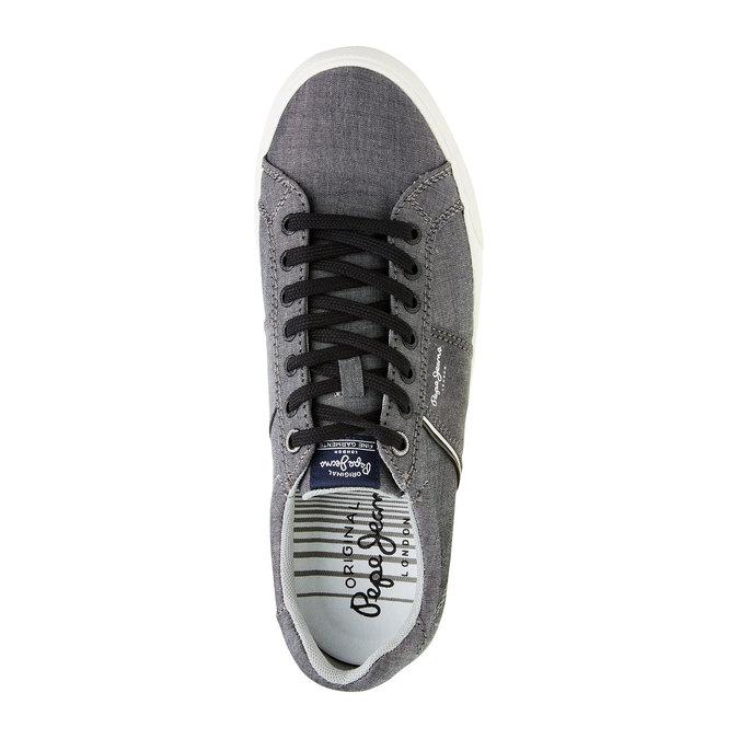 Pánské ležérní tenisky pepe-jeans, šedá, 849-2009 - 19