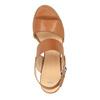 Kožené sandály na širokém podpatku bata, hnědá, 664-3205 - 19