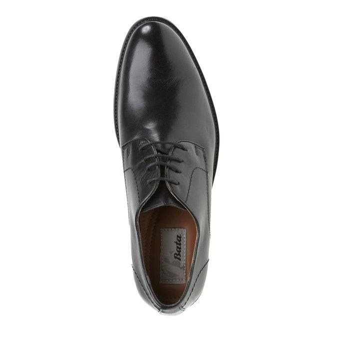Kožené polobotky v Derby stylu bata, černá, 824-6512 - 19