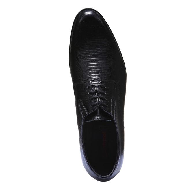 Kožené polobotky v Derby stylu bata, černá, 824-6252 - 19