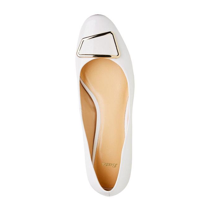 Lodičky na nízkém podpatku bata, bílá, 621-1201 - 19