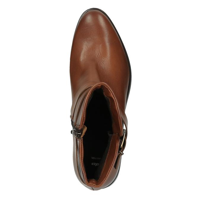 Kožená kotníčková obuv s přezkou bata, hnědá, 594-4602 - 19