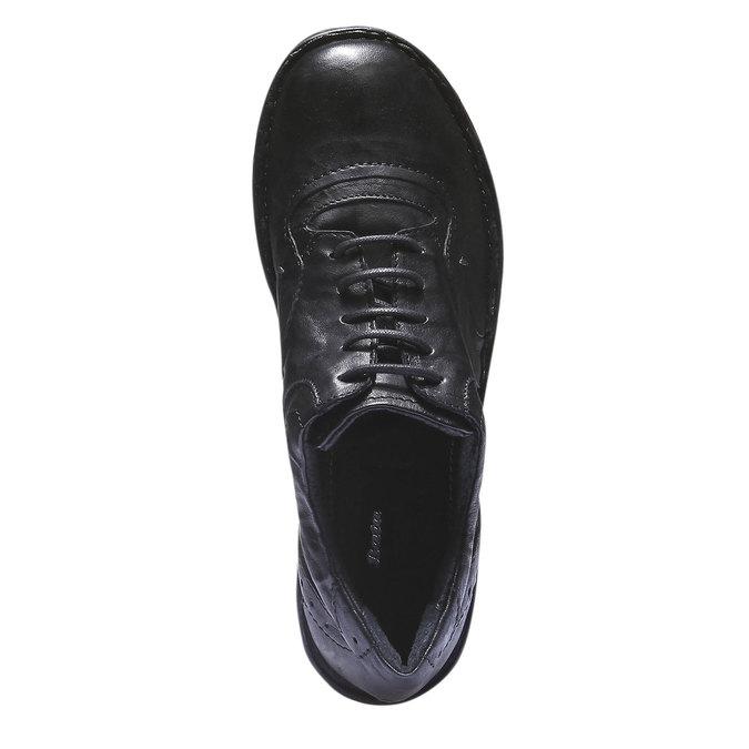 Ležérní kožené tenisky bata, černá, 624-6111 - 19