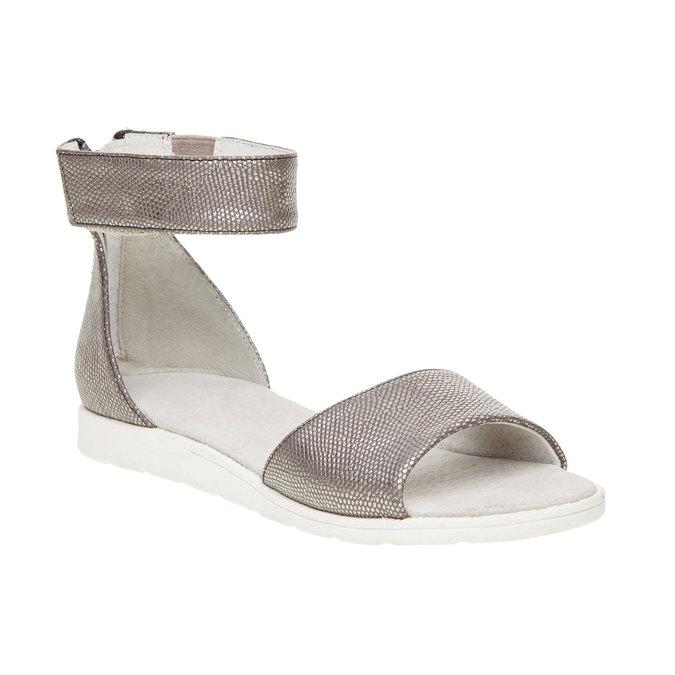 Sandály s páskem kolem kotníku bull-boxer, šedá, 421-2002 - 13