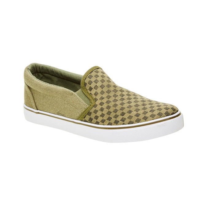 Dětská obuv typu Slip-On mini-b, zelená, 319-7215 - 13
