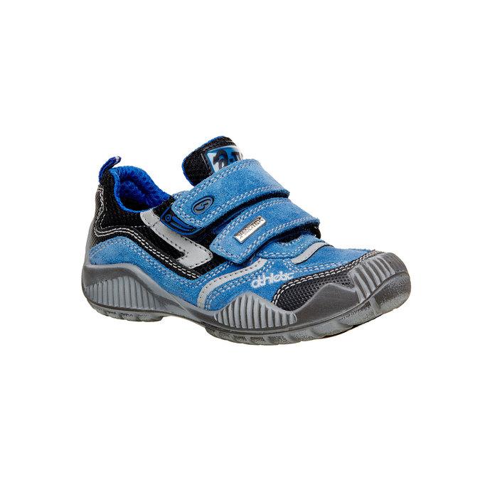 Dětské Kožené tenisky na suché zipy mini-b, modrá, 413-9130 - 13