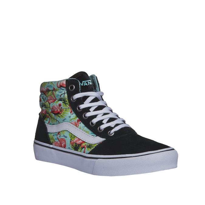Kotníčkové tenisky s květinovým motivem vans, černá, zelená, 503-7705 - 13