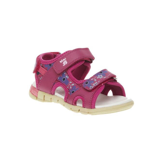 Dívčí kožené sandály mini-b, růžová, 369-5500 - 13