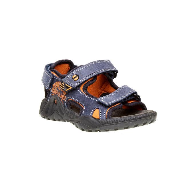Dětské kožené sandály mini-b, modrá, 466-9121 - 13