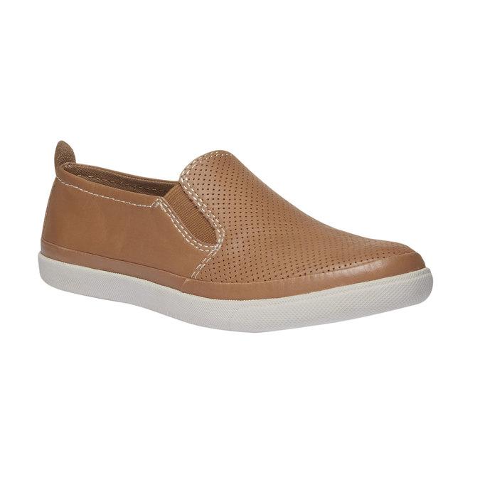 Kožené Plim Soll boty s perforací bata, hnědá, 514-3197 - 13