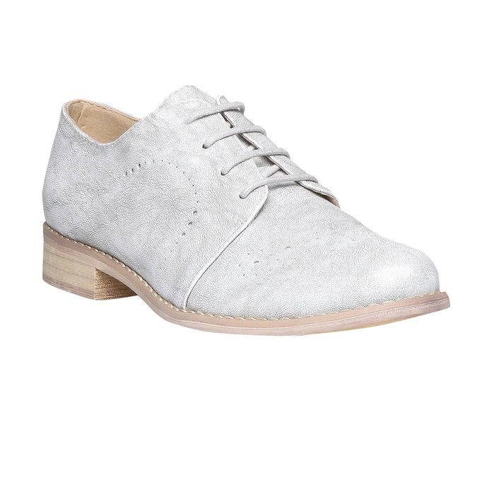 Dámské polobotky bata, šedá, 521-2477 - 13
