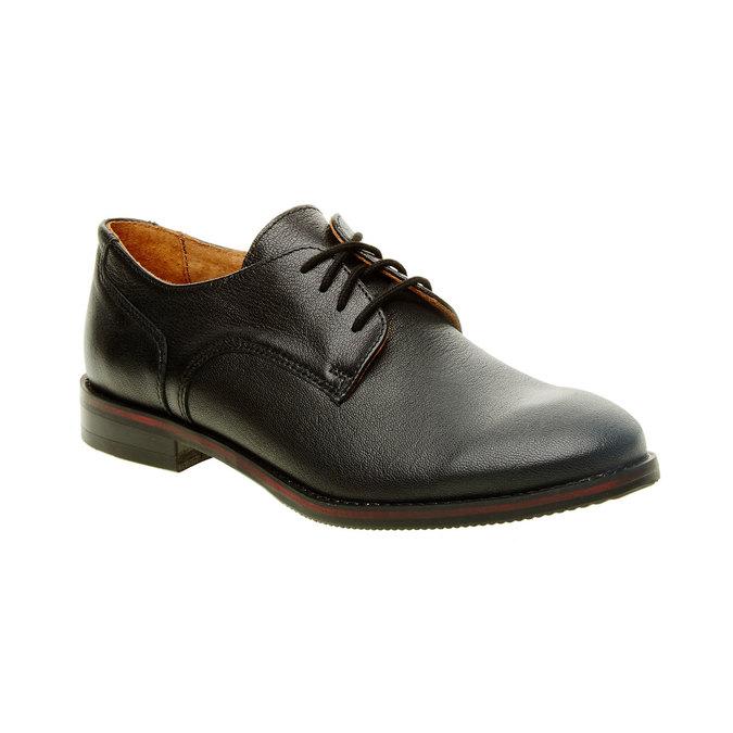 Dámské kožené polobotky bata, černá, 524-6117 - 13