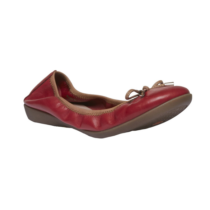 Červené kožené baleríny bata, červená, 524-5485 - 13