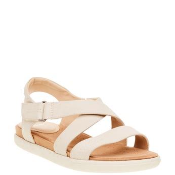 Dámské kožené sandály bata, béžová, 564-4351 - 13