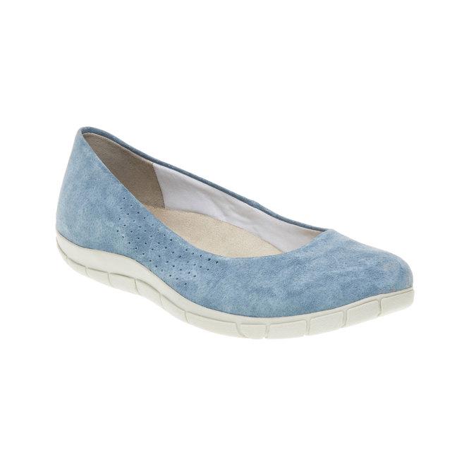 Ležérní kožené baleríny weinbrenner, modrá, 526-9103 - 13