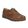 Dámské kožené polobotky bata, hnědá, 526-4600 - 13