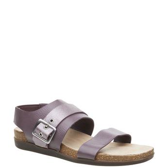 Dámské nazouváky s elastickou patou rockport, fialová, 566-9104 - 13