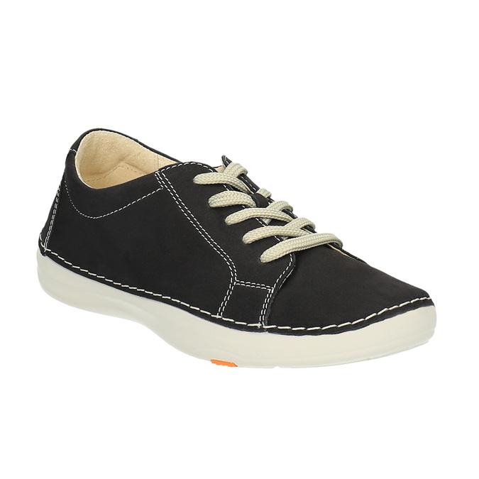 Kožené ležérní tenisky flexible, černá, 526-6603 - 13