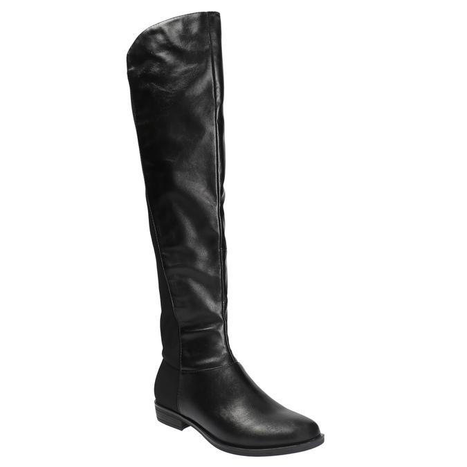 Dámské kozačky nad kolena bata, černá, 591-6604 - 13
