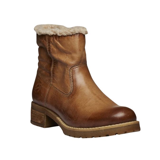 Kožená zimní obuv bata, hnědá, 594-3101 - 13