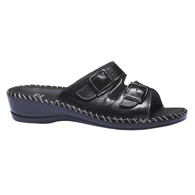 Kožené nazouváky bata-comfit, černá, 574-6173 - 13