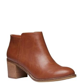 Kotníčkové kozačky na širokém podpatku bata, hnědá, 691-3271 - 13