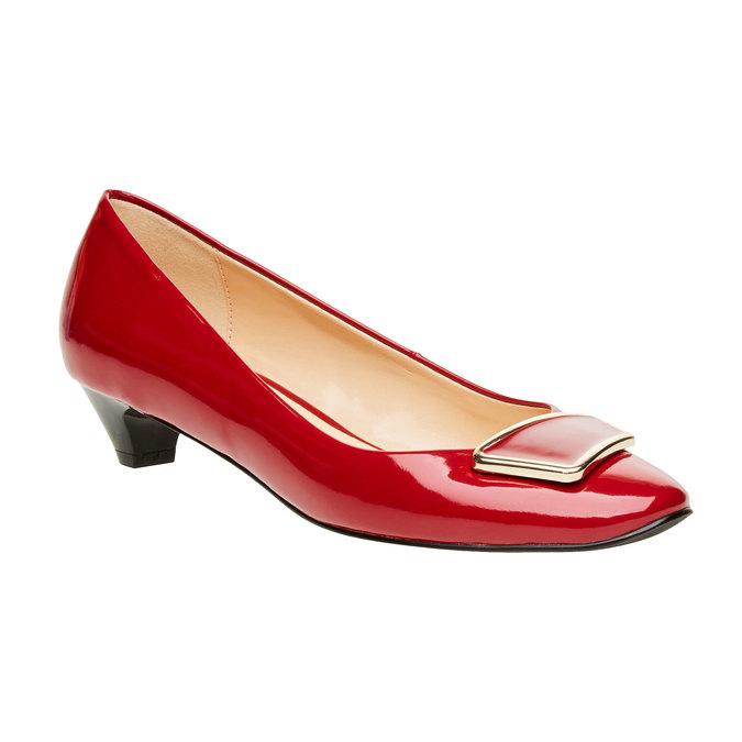 Červené lodičky na nízkém podpatku bata, červená, 621-5201 - 13