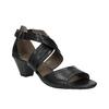Dámské kožené sandály bata, černá, 644-6100 - 13