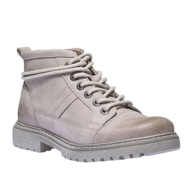 Kožená obuv s originálními tkaničkami weinbrenner, žlutá, 596-8409 - 13
