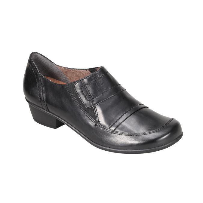 Komfortní kožená obuv bata, černá, 624-6113 - 13