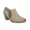 Kožená kotníčková obuv bata, žlutá, 626-8102 - 13
