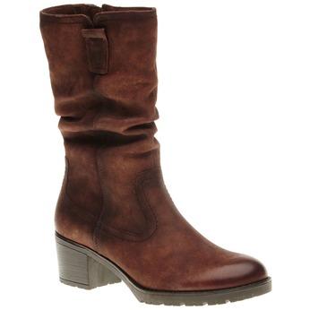 Kožené kozačky na stabilním podpatku bata, hnědá, 696-4127 - 13
