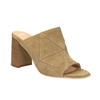 Kožené nazouváky na širokém podpatku bata, hnědá, 763-3516 - 13