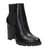 Kotníčková obuv na podpatku s pružnými boky bata, černá, 791-6604 - 13