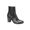 Kožená kotníčková obuv bata, černá, 794-6101 - 13