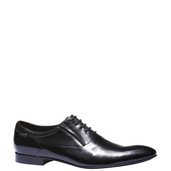 Luxusní kožené Oxfordky bata, černá, 824-6121 - 13