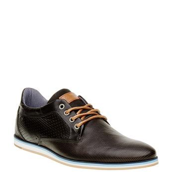 Ležérní kožené polobotky bata, černá, 824-6290 - 13