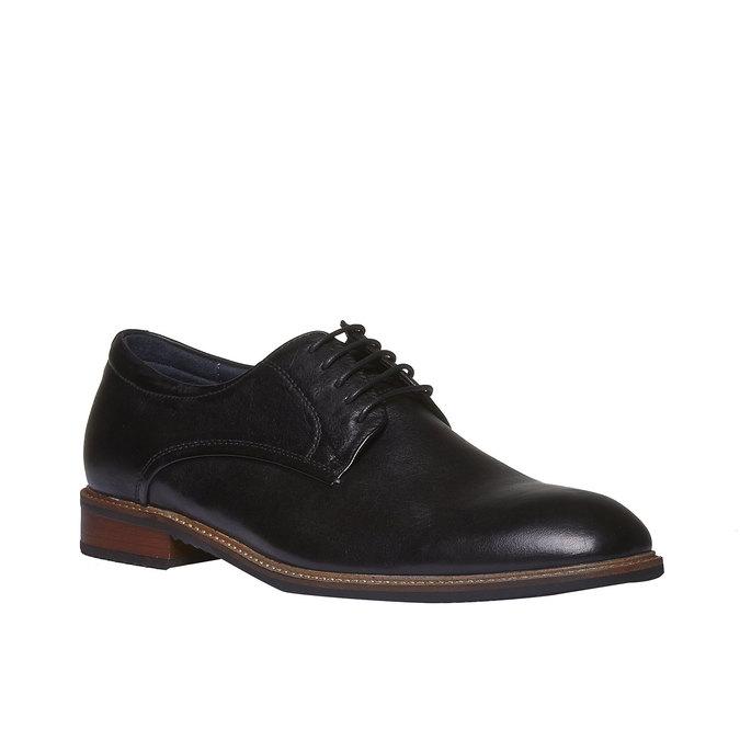 Kožené polobotky v Derby stylu bata, černá, 824-6707 - 13