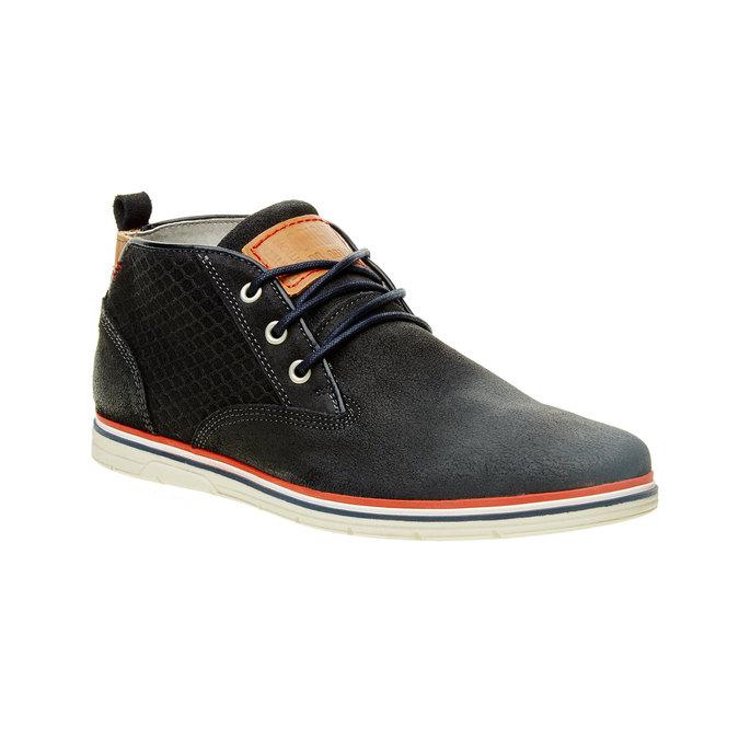 Kotníčkové kožené polobotky bata, černá, 843-9311 - 13