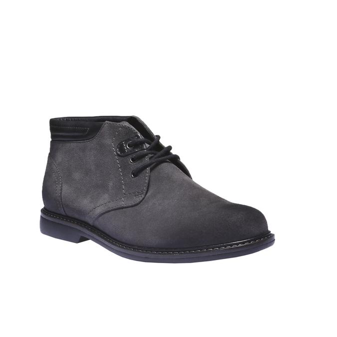 Pánské semišové boty bata, šedá, 893-2261 - 13