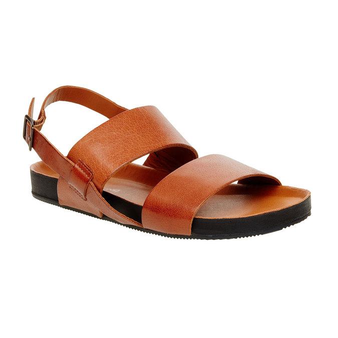 Kožené pánské sandály vagabond, hnědá, 864-3010 - 13