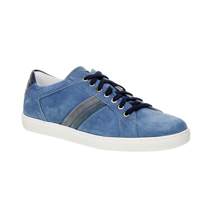 Ležérní tenisky z broušené kůže bata, modrá, 846-9638 - 13