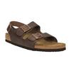 Pánské kožené sandály na korkové podešvi birkenstock, hnědá, 866-4005 - 13