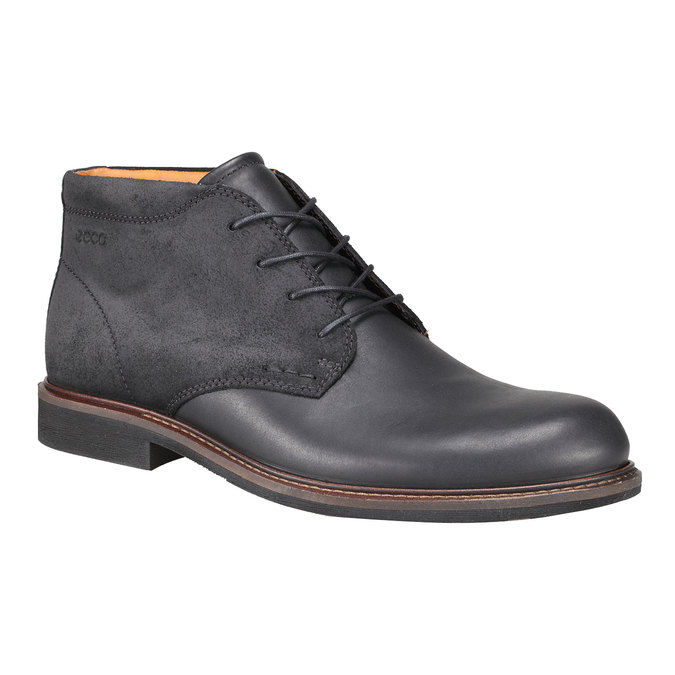 Kožené Chukka Boots ecco, černá, 894-6037 - 13