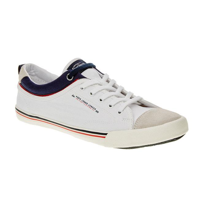 Pánské ležérní tenisky pepe-jeans, bílá, 849-1016 - 13