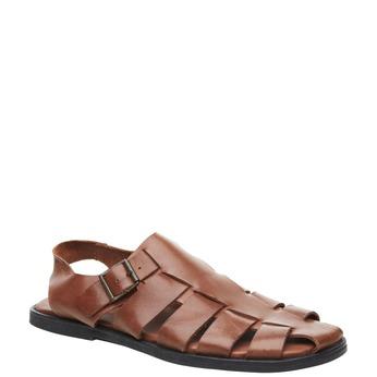 Pánské kožené sandály rockport, hnědá, 864-3104 - 13