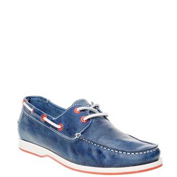 Pánské kožené mokasíny bata, modrá, 854-9188 - 13