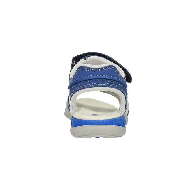 Dětské sandály s koženými pásky mini-b, modrá, 264-9166 - 17