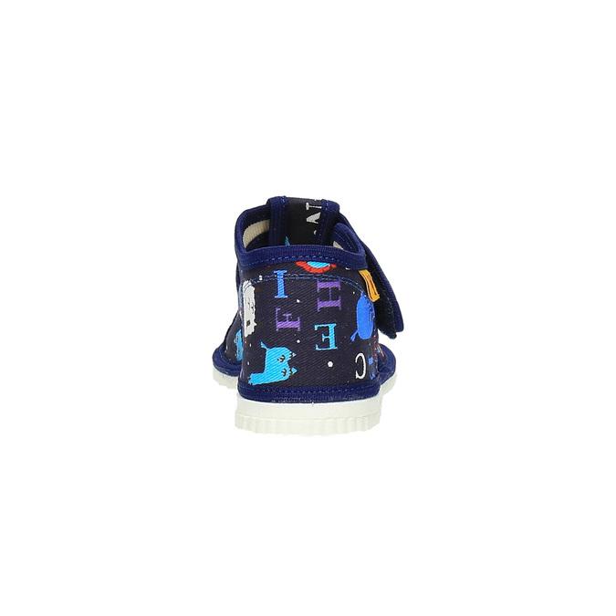 Dětská domácí obuv bata, modrá, 179-9005 - 17