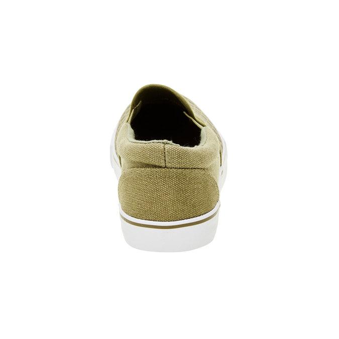Dětská obuv typu Slip-On mini-b, zelená, 319-7215 - 17